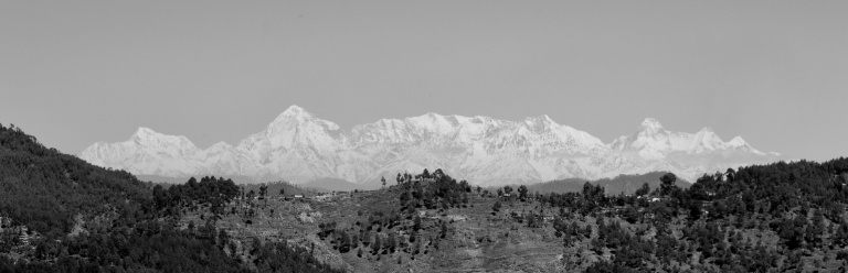 After innumerable moments of waiting the traveller comes face to face  with the grand Himalayas. It is this moment that liberates one from all tiredness.