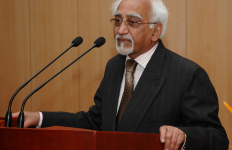 "The Vice President, Mohammad Hamid Ansari addressing at the release of the book titled ""Rescuing the Future Bequeathed Misperceptions in International Relations"", authored by Dr. Jagat Singh Mehta, in New Delhi on February 1, 2008."