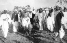 GANDHI WITH HIS ASSOCIATES DURING SALT MARCH