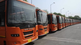 QUALITY TRANSPORT: Buses parked for the cluster model. File Photo: V.V. Krishnan   | Photo Credit: V_V_Krishnan