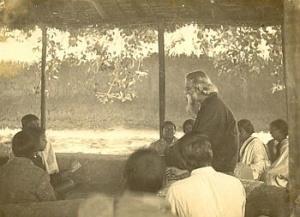 Tagore at Shantiniketan