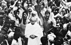 M.K. Gandhi at Champaran, Bihar