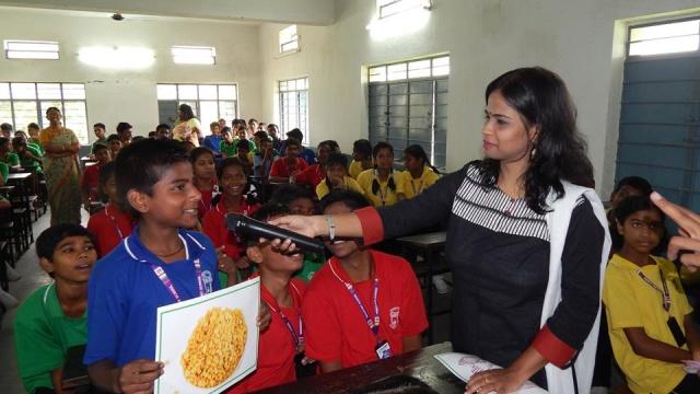 Inteaction with children regarding healthy food
