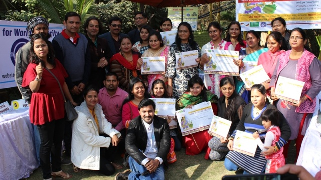 Participants in a cooking competition