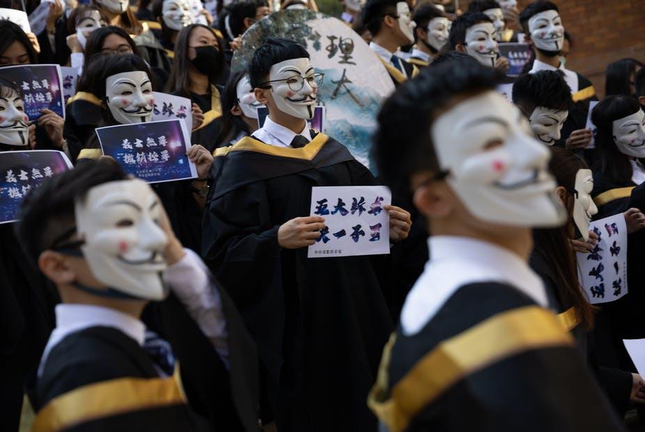 masks protest
