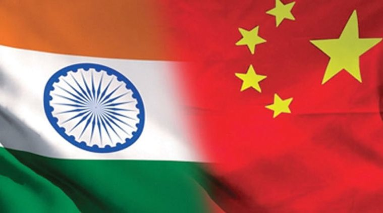 National Flag of INDIA and CHINA.